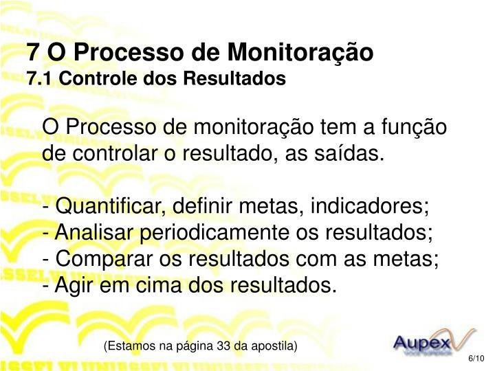 7 O Processo de Monitoração