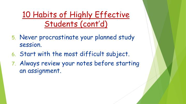 10 Habits of Highly Effective