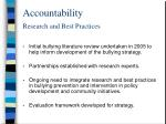 accountability research and best practices