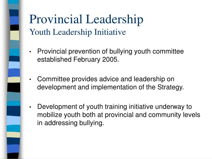 Provincial Leadership