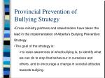 provincial prevention of bullying strategy