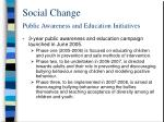 social change public awareness and education initiatives