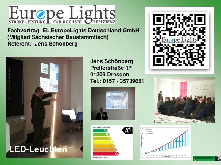 Fachvortrag  EL EuropeLights Deutschland GmbH