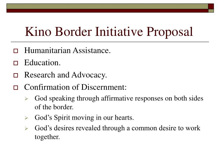 Kino Border Initiative Proposal