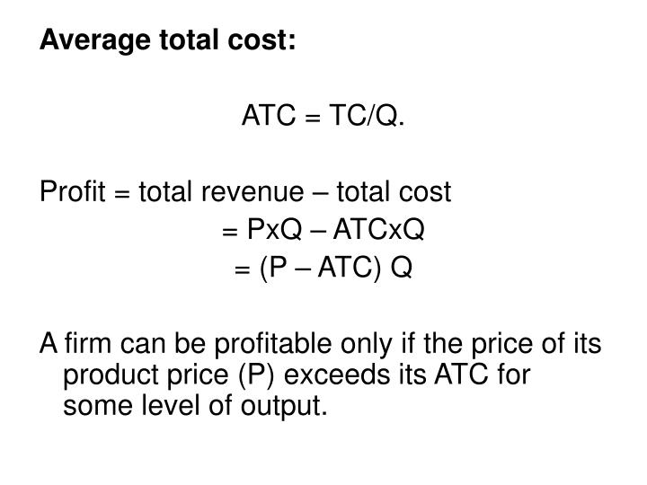 Average total cost: