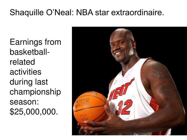 Shaquille O'Neal: NBA star extraordinaire.