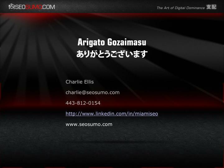 Arigato Gozaimasu