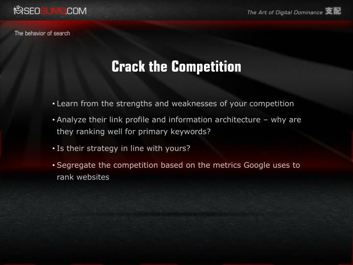 Crack the Competition