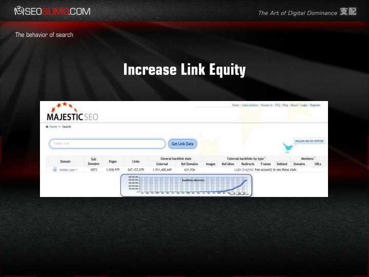 Increase Link Equity