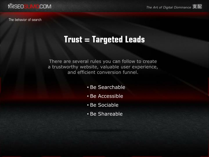 Trust = Targeted Leads