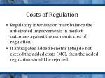 costs of regulation1