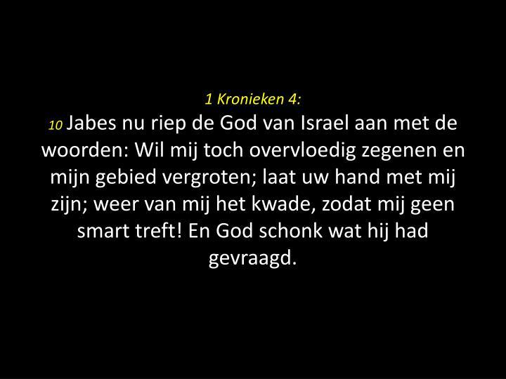 1 Kronieken 4: