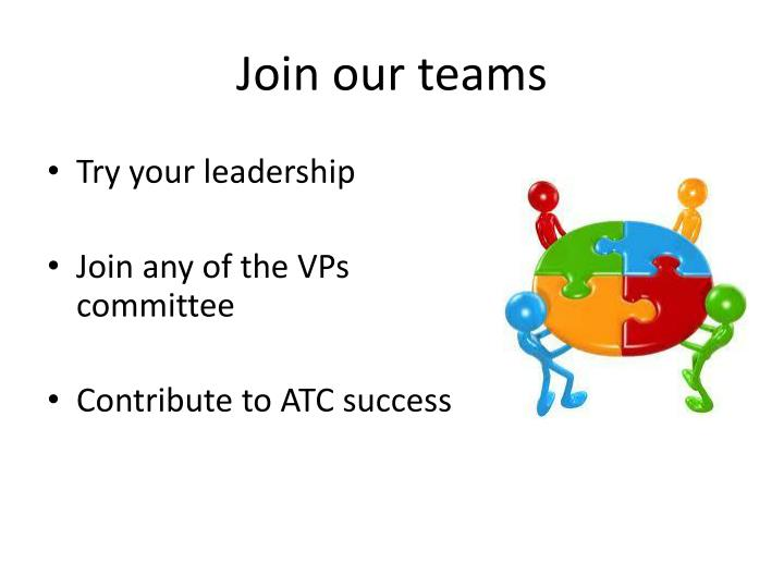 Join our teams