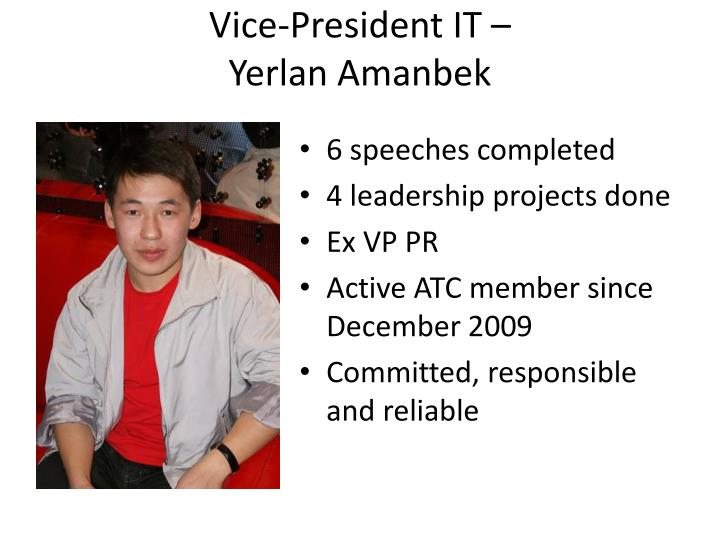 Vice-President IT –