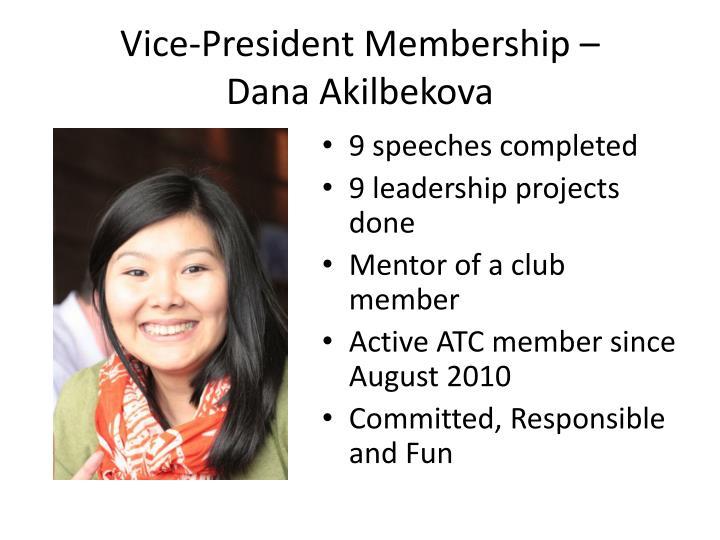 Vice-President Membership –