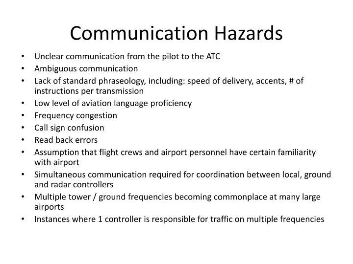 Communication Hazards