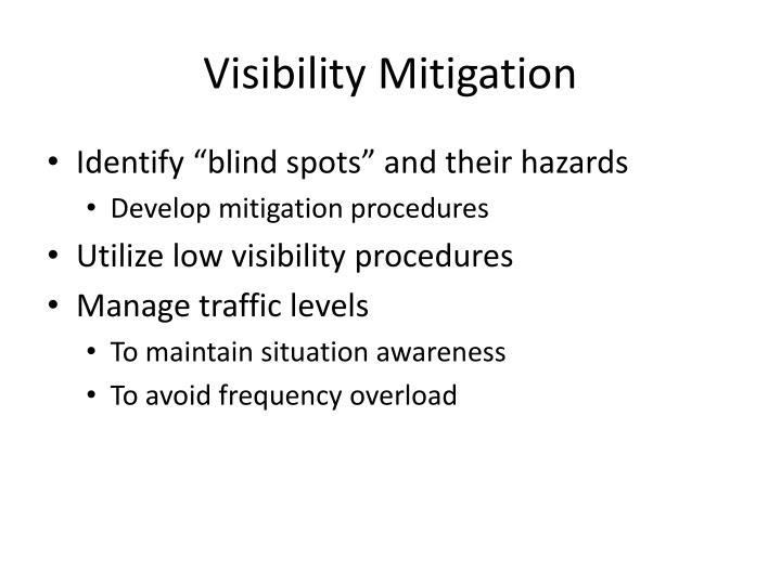 Visibility Mitigation