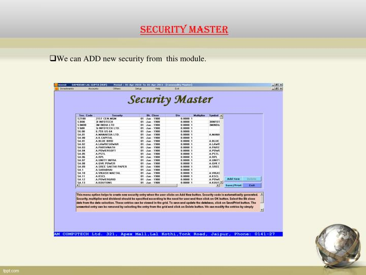 Security master
