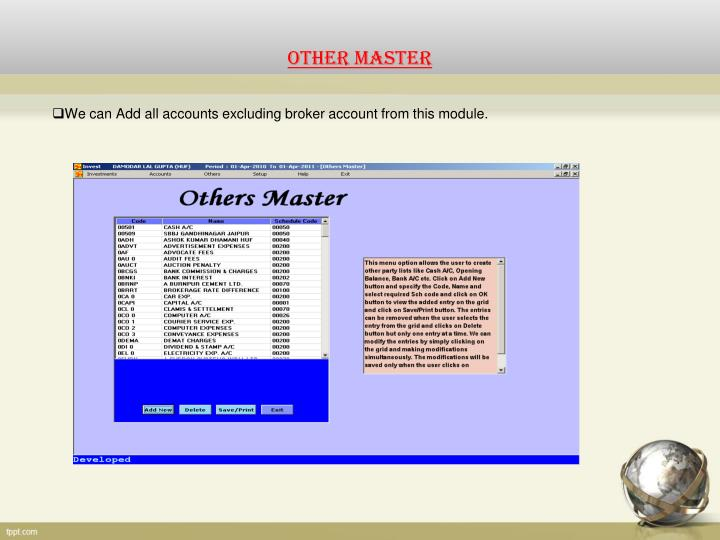 OTHER MASTER