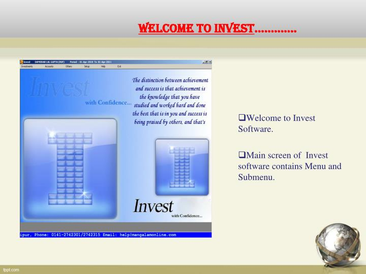 Welcome to invest