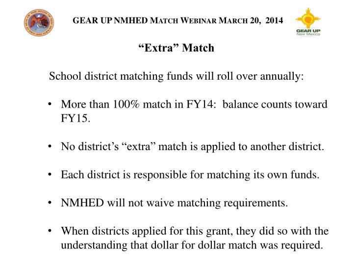 """""""Extra"""" Match"""