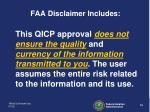 faa disclaimer includes