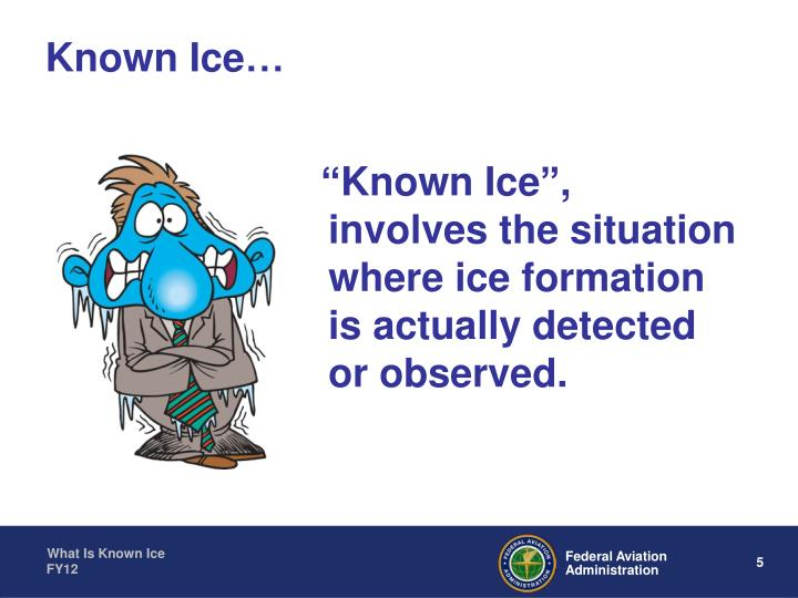 Known Ice…