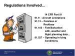 regulations involved