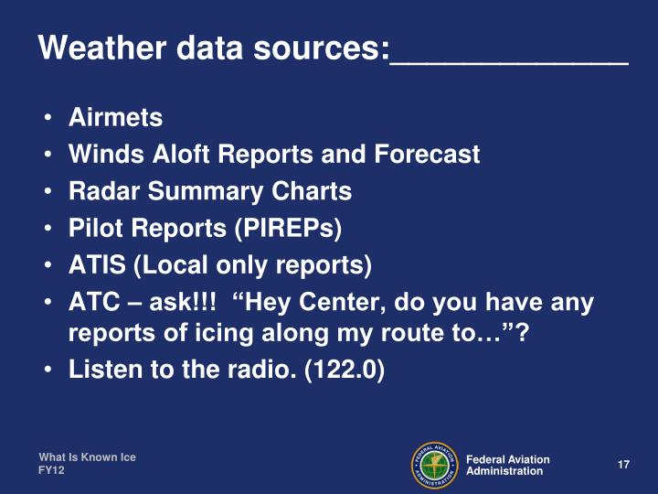 Weather data sources:_____________
