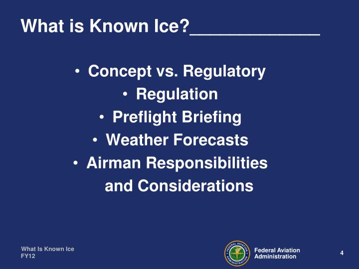 What is Known Ice?_____________