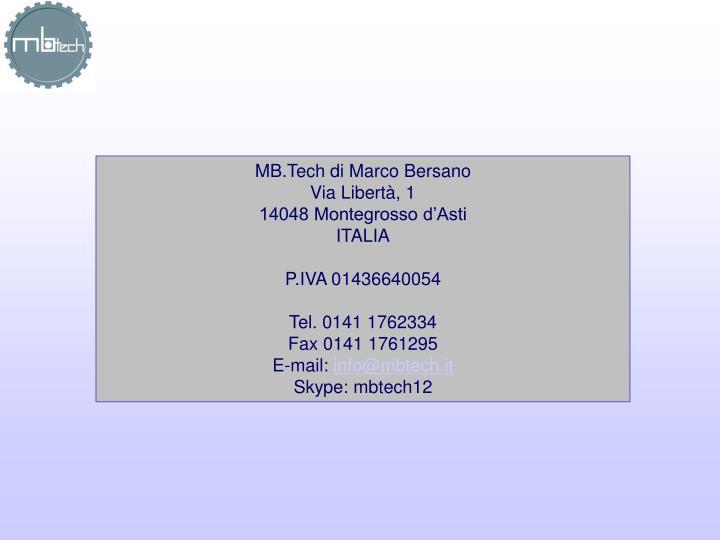 MB.Tech di Marco Bersano