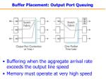 buffer placement output port queuing