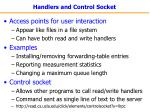 handlers and control socket