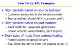 line cards acl examples
