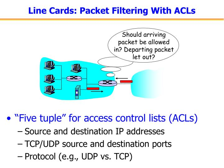 """""""Five tuple"""" for access control lists (ACLs)"""