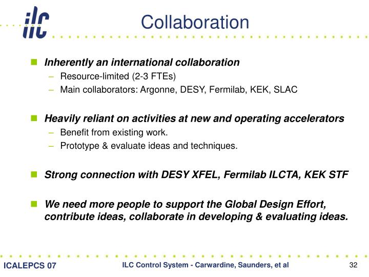 Inherently an international collaboration