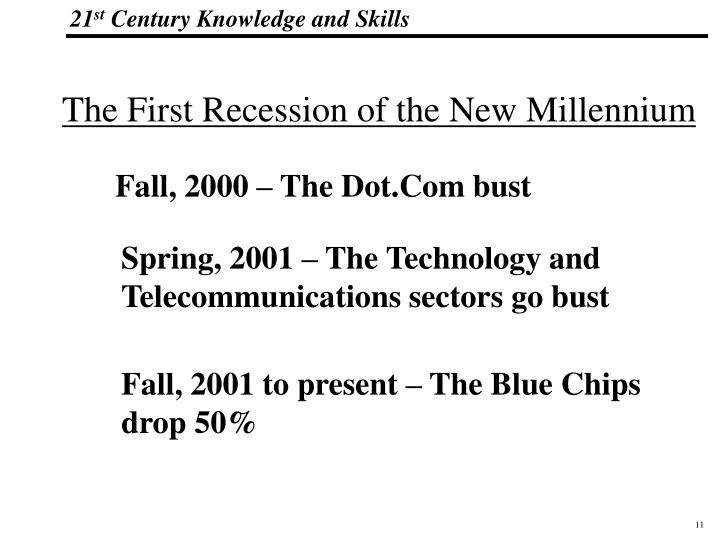 The First Recession of the New Millennium
