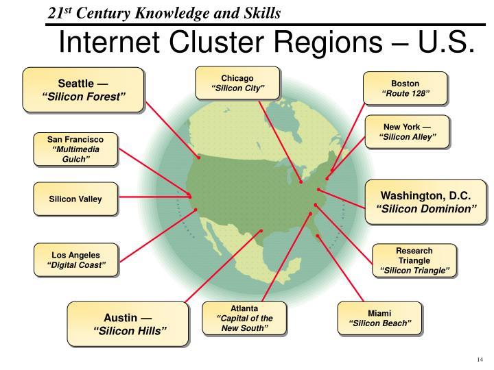 Internet Cluster Regions – U.S.