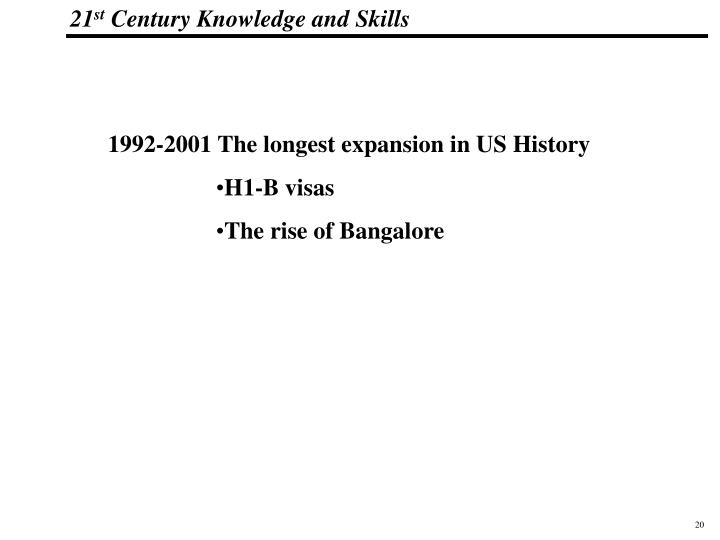 1992-2001 The longest expansion in US History