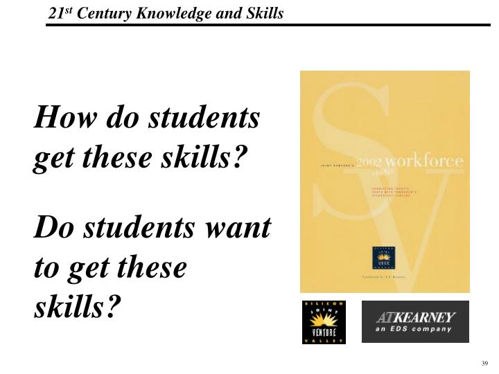 How do students get these skills?