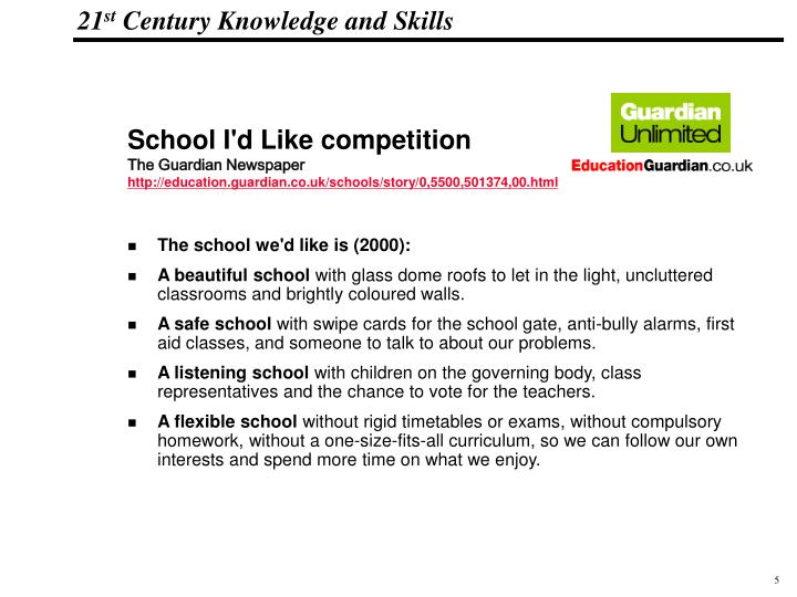 School I'd Like competition