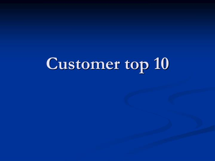 customer top 10