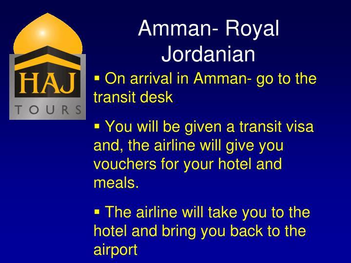 Amman- Royal Jordanian