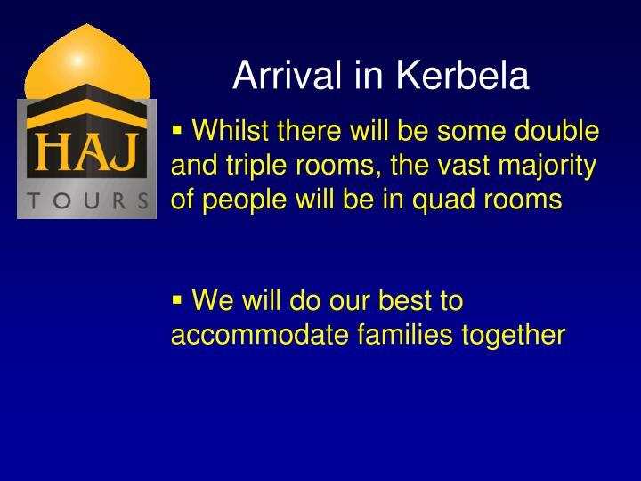 Arrival in Kerbela