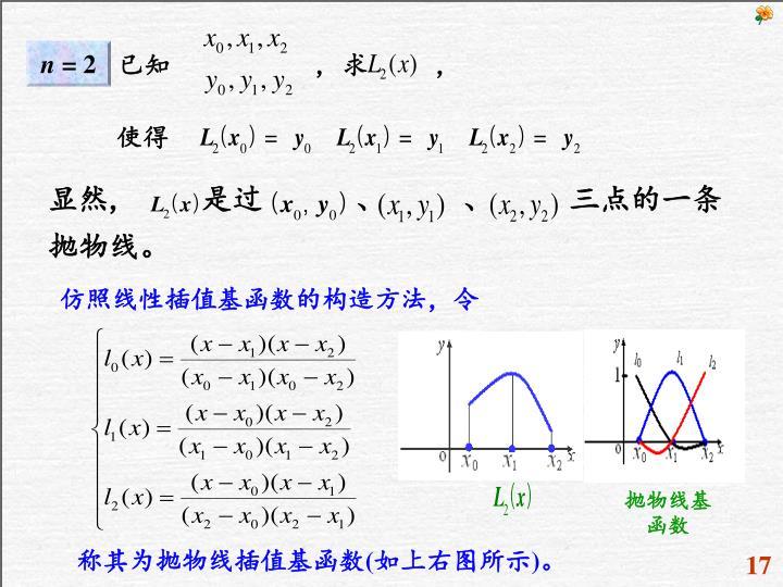 仿照线性插值基函数的构造方法,令