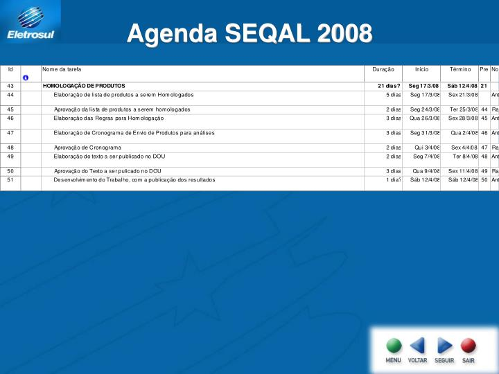 Agenda SEQAL 2008
