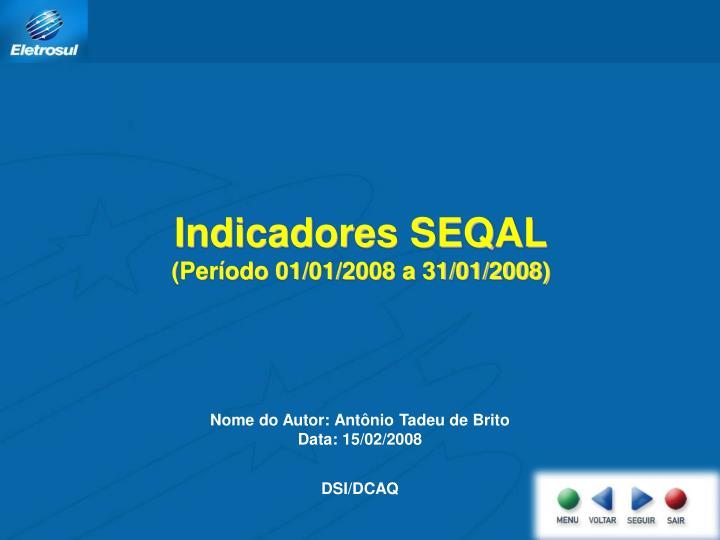Indicadores SEQAL