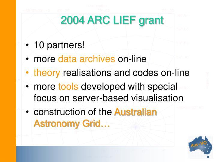 2004 ARC LIEF grant