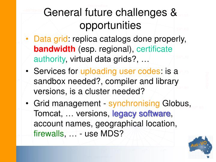 General future challenges & opportunities