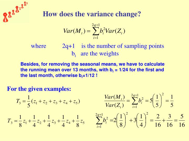 How does the variance change?